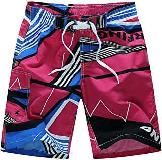 ESFBCSTS Mens Summer Casual Shorts American Flag 3D Beach Shorts Boxers Trousers