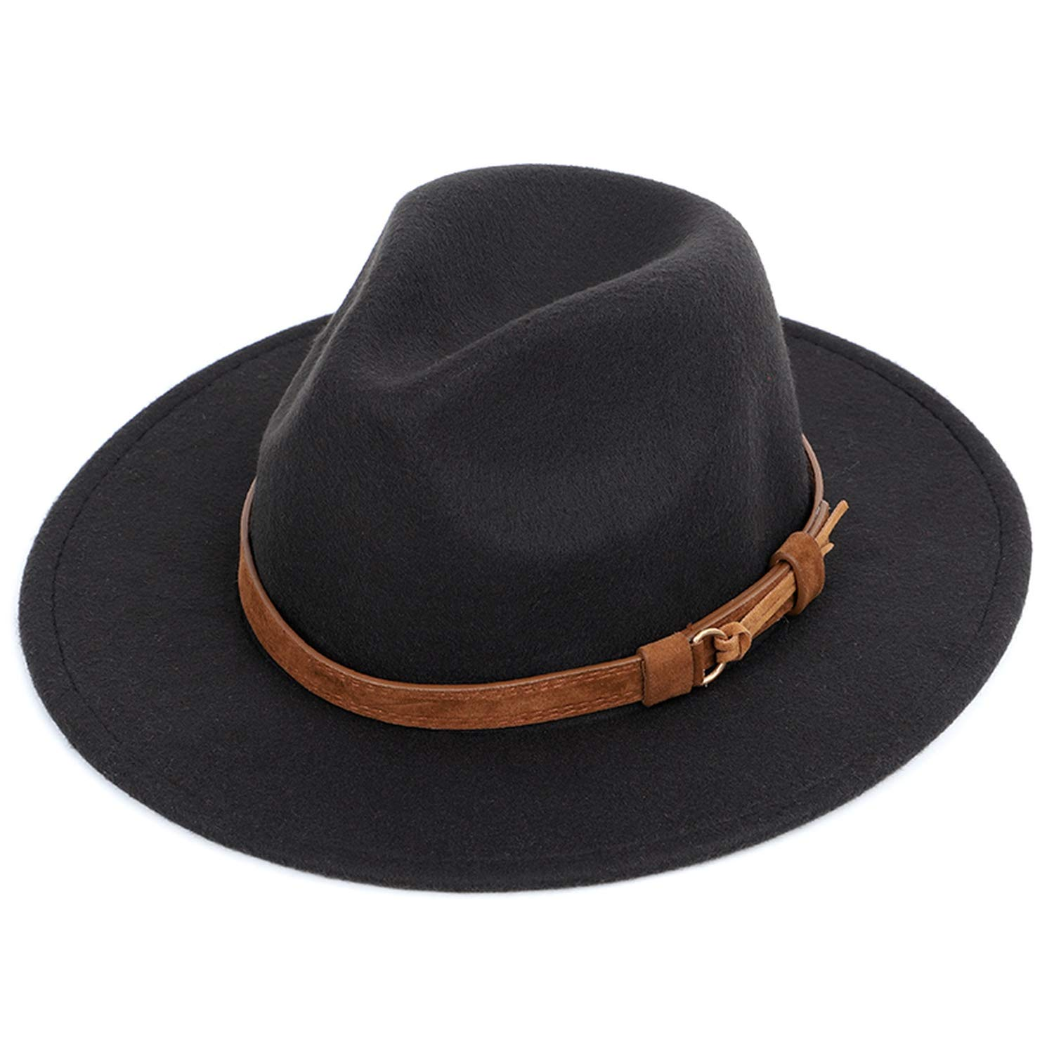 Mens Fedora Wool Warm and Comfortable Adjustable Large Hats Unisex Fashion Trend Solid Cap Classic Bowler hat