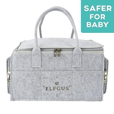 Pañalera portátil | Organizador portátil para cambiar pañales | Bolso para almacenar artículos de bebés recién nacidos | Canasta de almacenamiento de ...