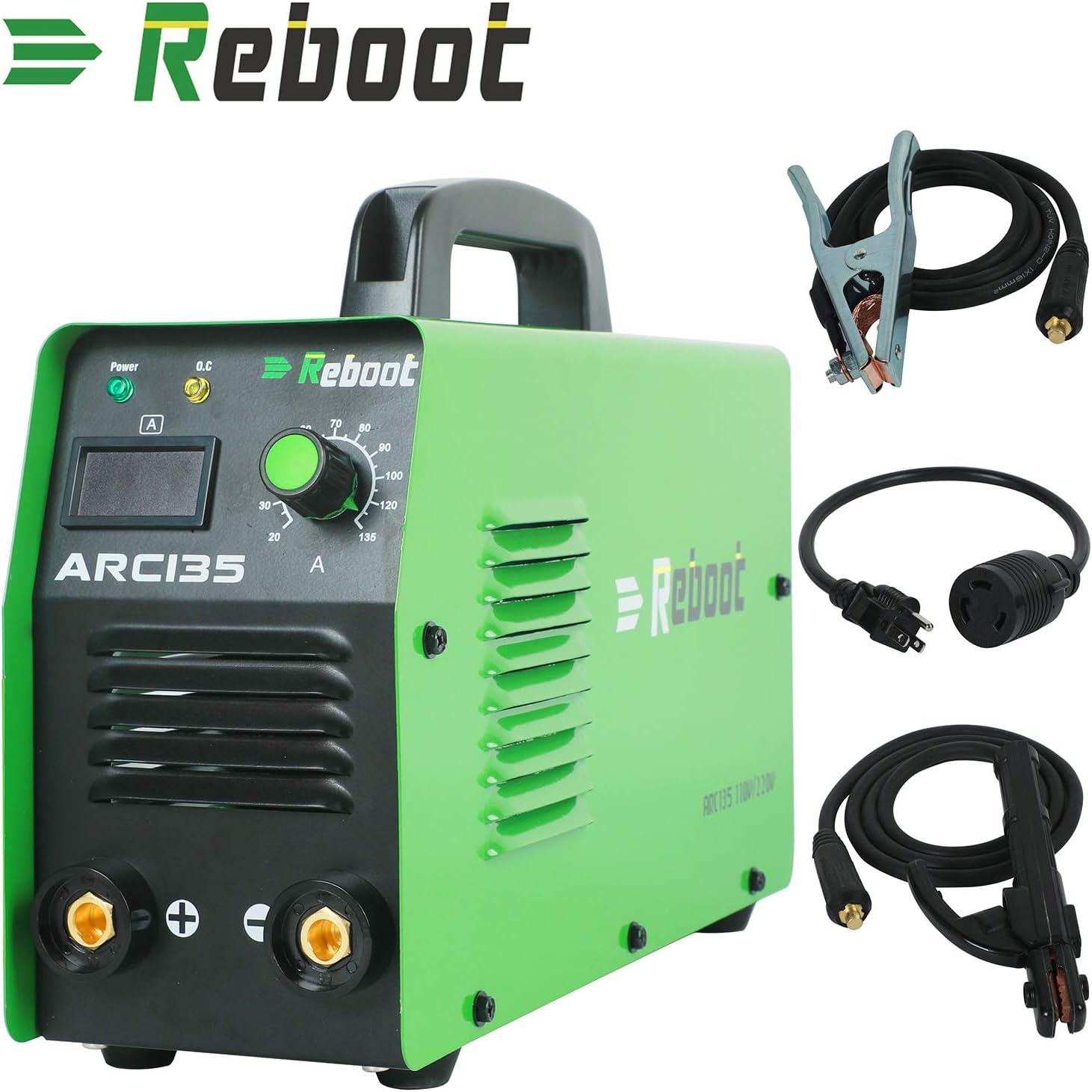 ARC WELDER ARC135 DC 220 V MMA Inverter Dual Volt Stabschweißgerät Mini Tragbare 1/16~1/8 zoll Elektrodenstabschweißgerät (ARC135)