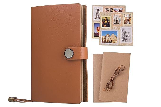 Leder Notizbuch/Tagebuch - Nachfüllbar Schreiben Reisende Notebook - Tagebuch mit Premium Dickes Papier, Softcover-Vintage Ta