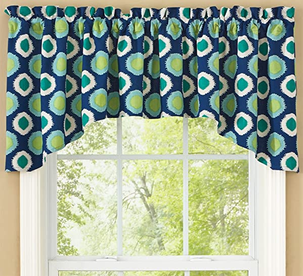 Park Designs Berkley Lined Dot Jabot Valance