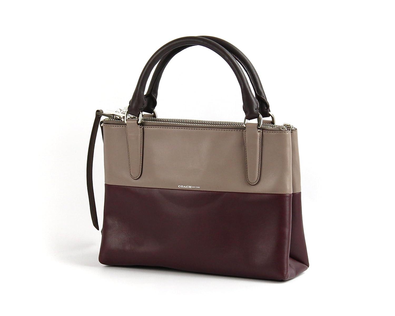 coach 32502 mini borough bag in retro colorblock pebbled leather rh amazon com