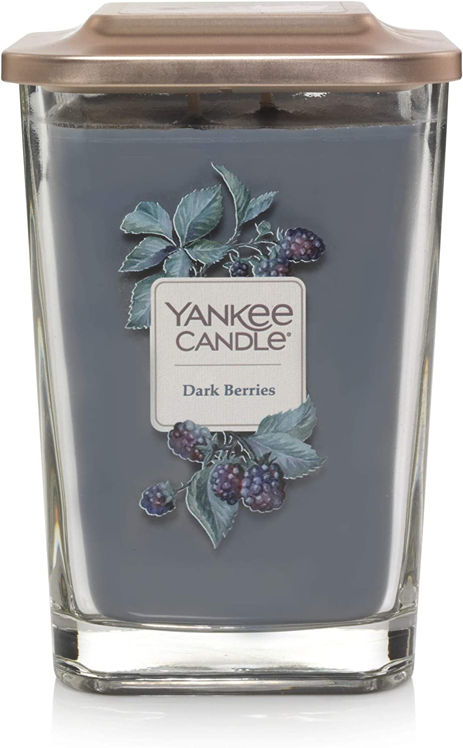 Yankee Candle Elevation Collection with Platform Lid Dark Berries Scented Candle, Large 2-Wick, 80 Hour Burn Time
