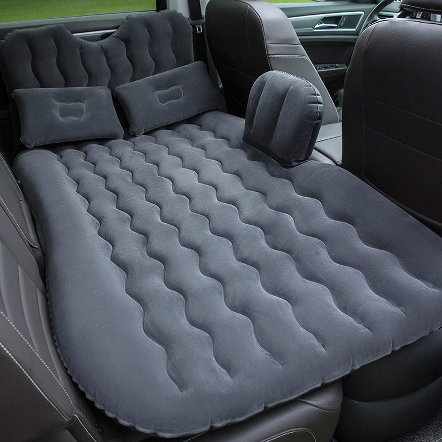 MKING Car Inflatable Air Mattress Back Seat Pump Portable Travel Camping Sleep Bed Cushion with Back Support Fits Universal Car SUV Truck by MKING