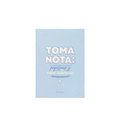 Mr. Wonderful ME2019R - Libreta de pegatinas y notas adhesivas