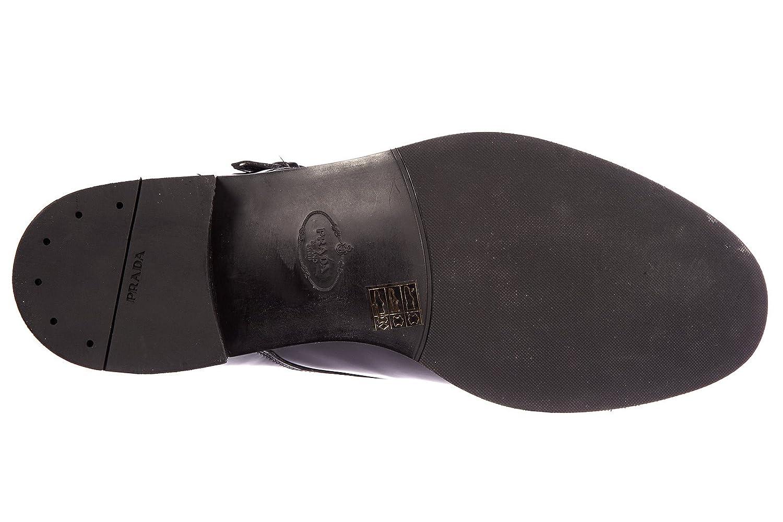 Prada Prada Prada Herren Leder Formal Business Slipper Schuhe Monkstrap Schwarz 4b6e79