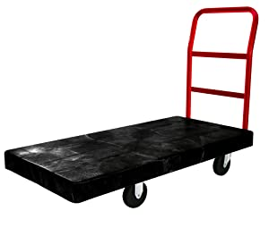 Rubbermaid Commercial Heavy-Duty Platform Truck Cart, 1000 Pound Capacity, 24 x 48 Platform, Black (FG443600BLA)