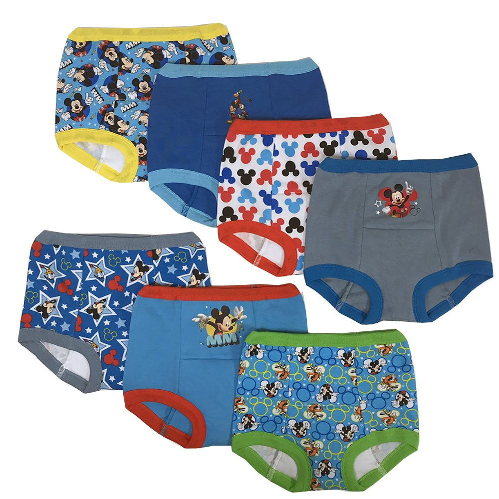 Handcraft Disney Mickey Mouse Boys Potty Training Pants Underwear Toddler 7-Pack Size 2T 3T 4T