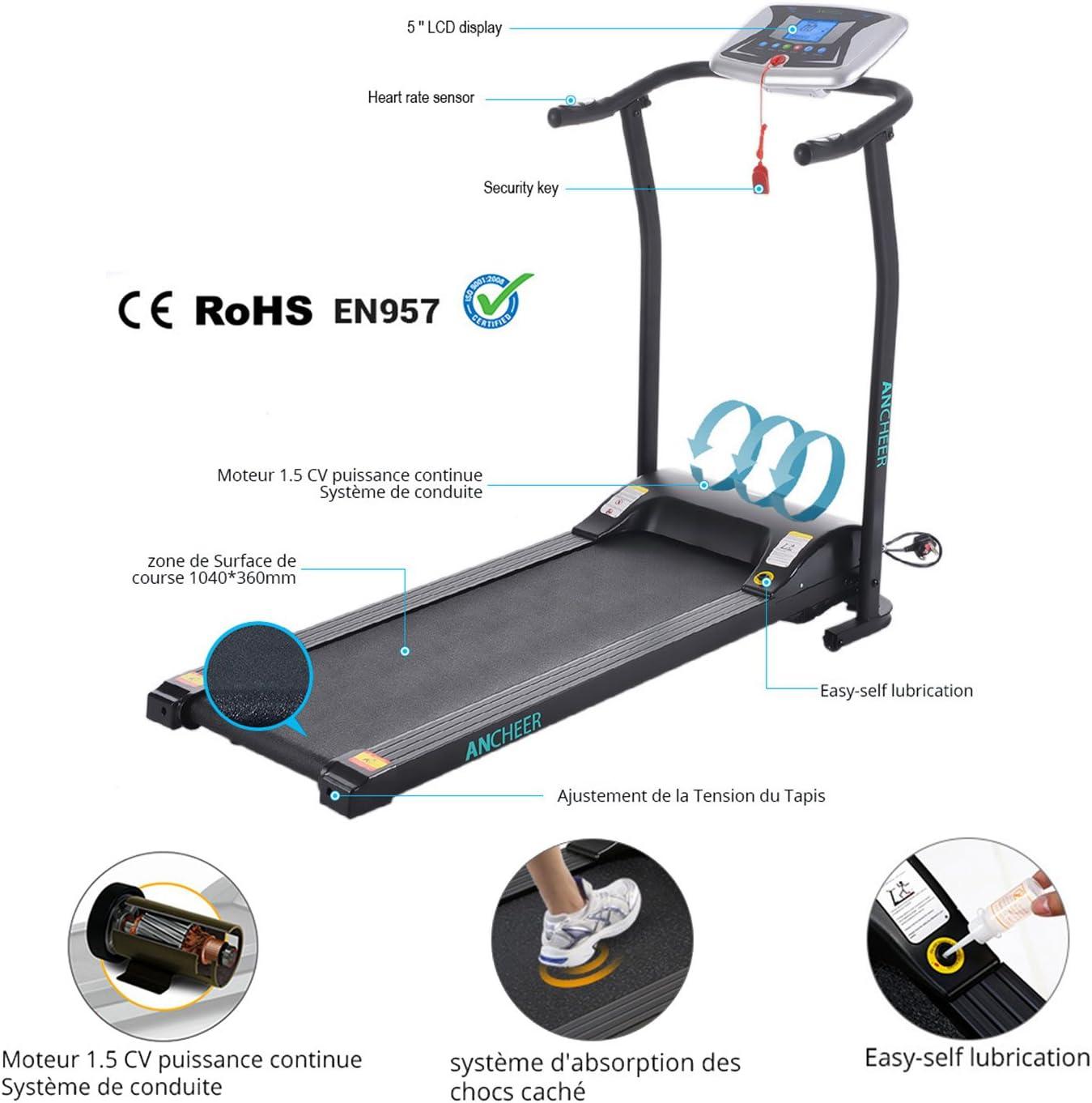 Ancheer - Máquina de correr plegable para disfrutar del gimnasio ...