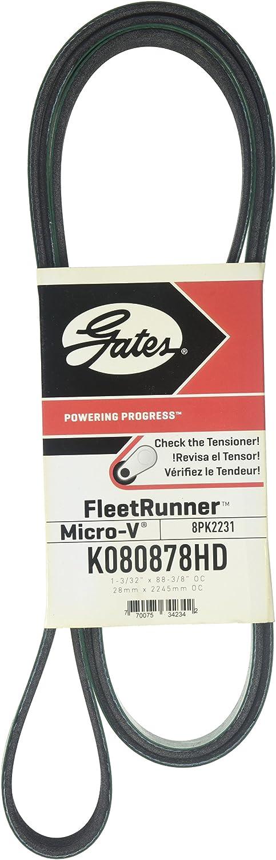Gates K080889HD FleetRunner Heavy Duty Micro-VBelt