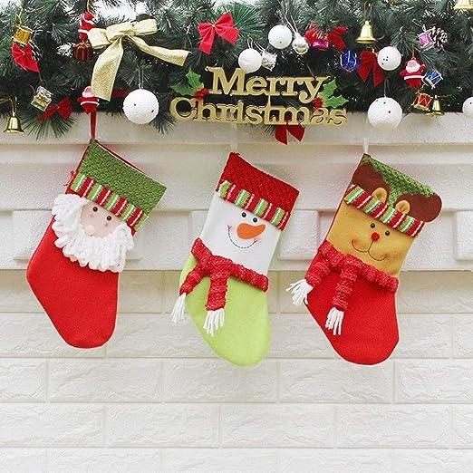MAXJCN Calcetines, Muñeco de Nieve de Navidad de Santa Claus ...