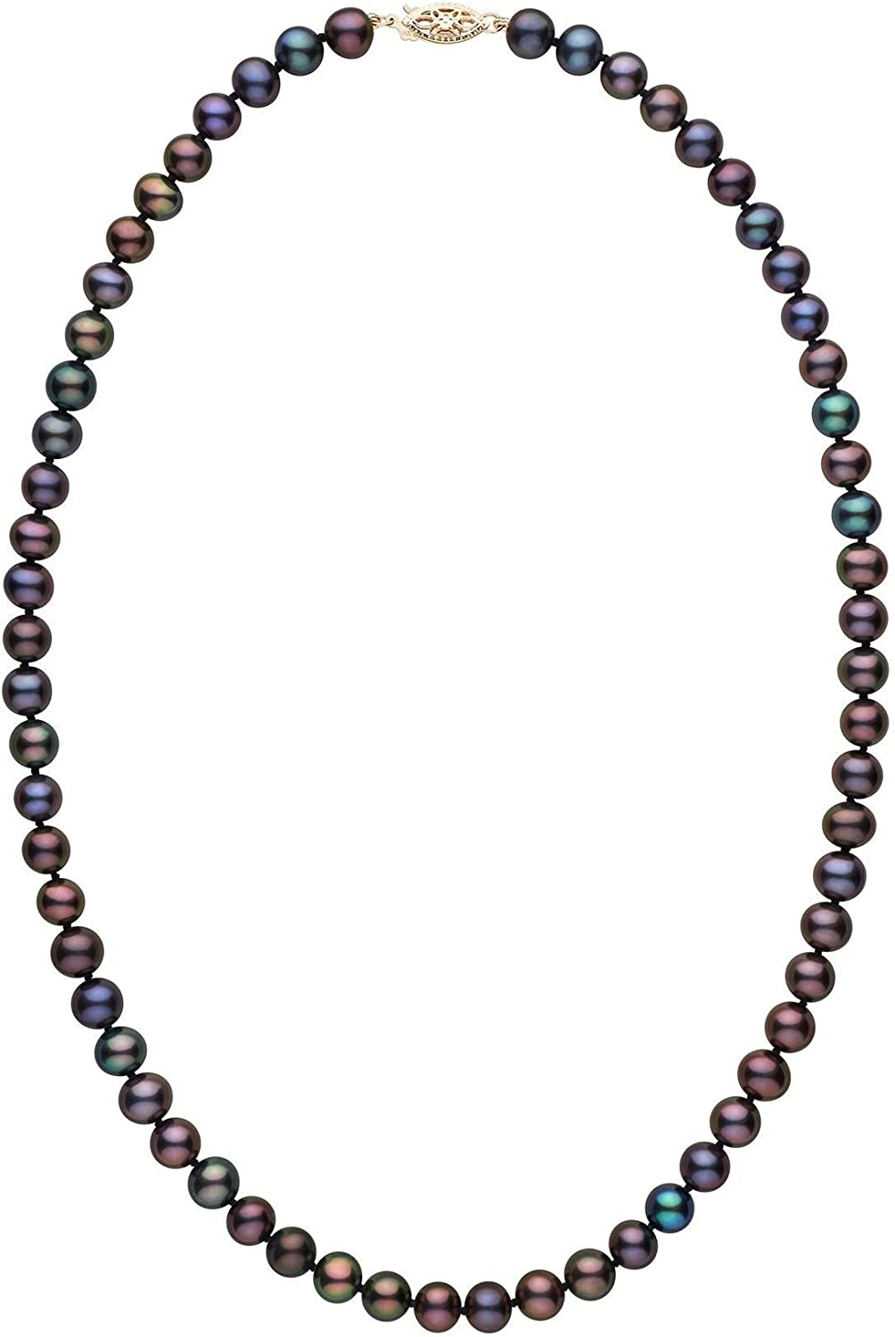 Multicolor Freshwater Cultured Pearl Necklace 8.5-9.0 mm 16 Inch AA