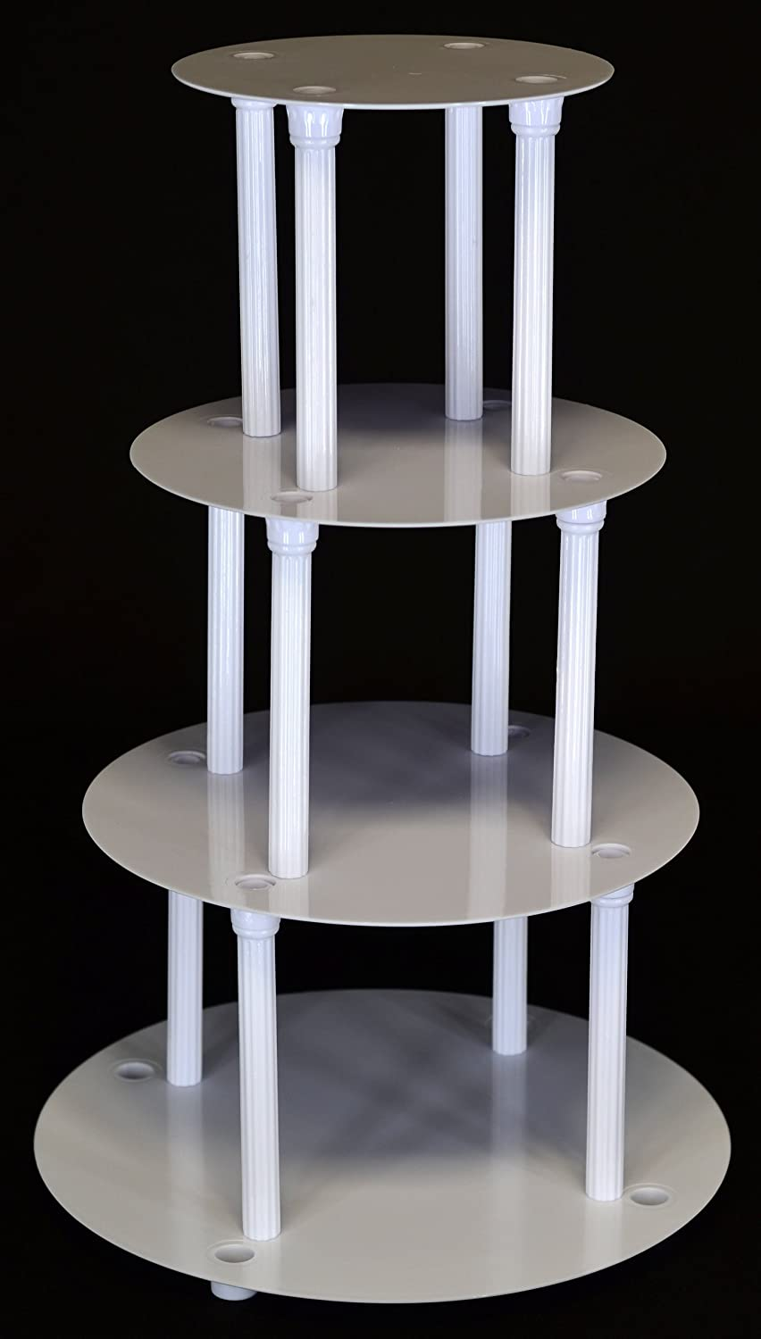 Amazing Amazon.com | 4 TIER CAKE SEPARATOR PLATE AND PILLAR SET (STYLE 1101): Cake  Stands: Accent Plates