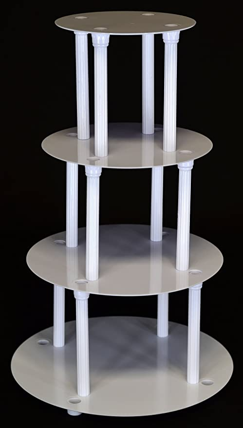 Amazon.com | 4 TIER CAKE SEPARATOR PLATE AND PILLAR SET (STYLE 1101 ...
