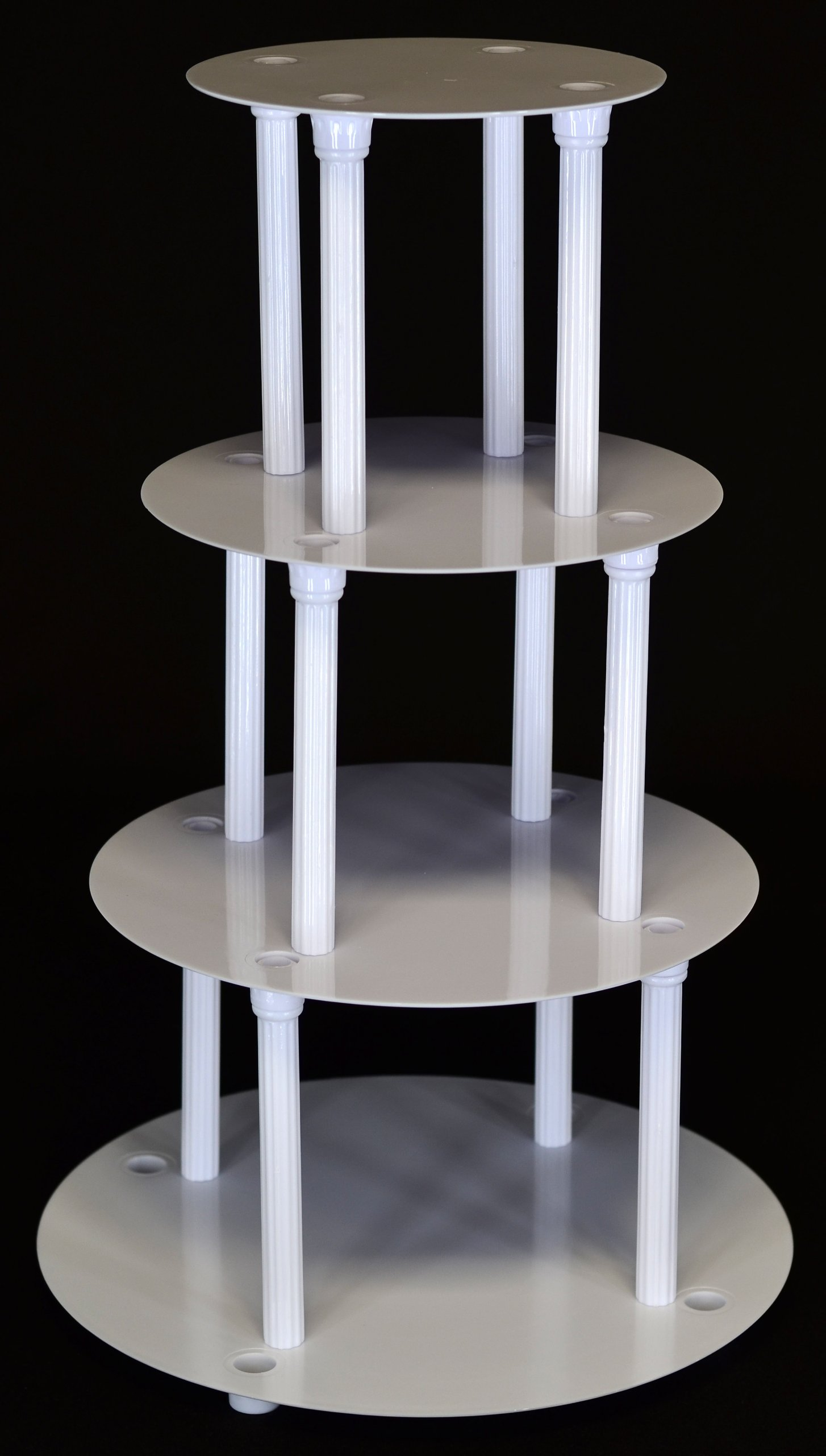 4 TIER CAKE SEPARATOR PLATE AND PILLAR SET (STYLE 1101)