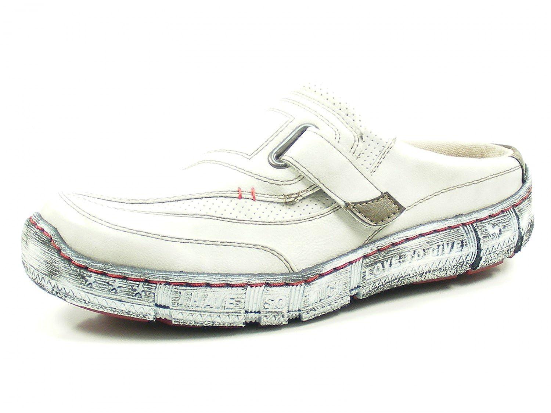Mustang Zuecos de Material Sintético Para Mujer Blanco Blanco/Gris 36 EU