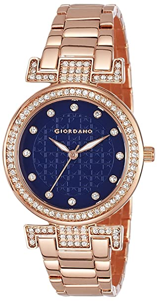 Giordano Analog Blue Dial Women's Watch-A2057-55 Women at amazon
