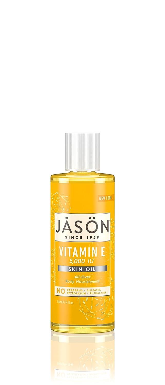 JASON Vitamin E Oil 5,000 IU Pure Oil, 4 Ounce Bottles (Pack of 3)