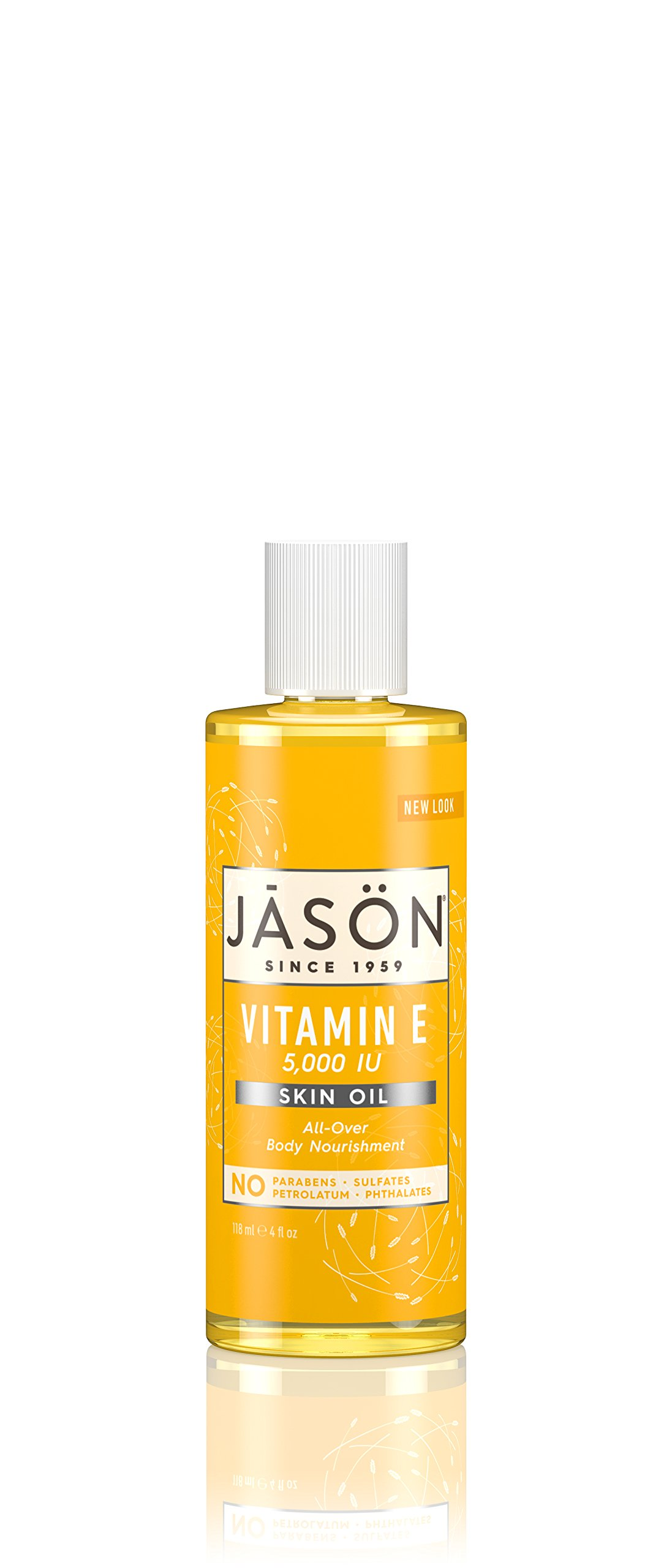 JASON Vitamin E 5,000 IU All Over Body Nourishment Oil, 4 oz. (Packaging May Vary)