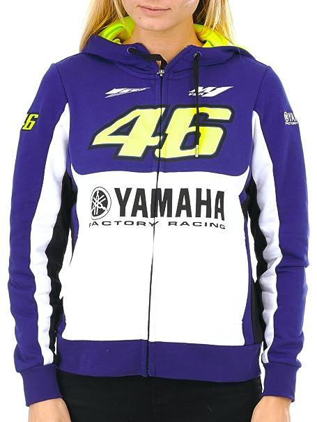 Sudadera Con Cremallera Mujer Valentino Rossi Yamaha Vr46 Factory Racing Royal A (L , Azul