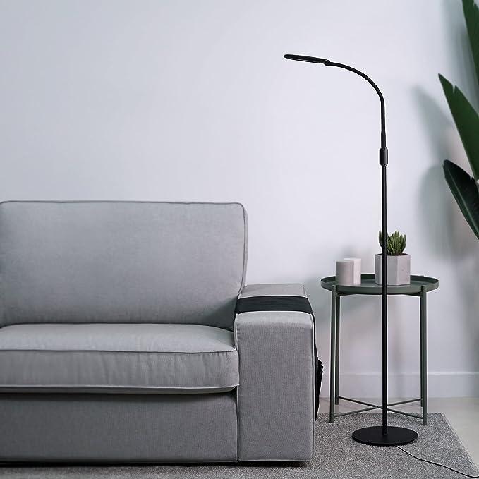 AUKEY LED Floor Lamp, Dimmable Standing Lamp, Eye Care Light with Gooseneck, Reading Lamp for Living Room Bedroom Dorm Office