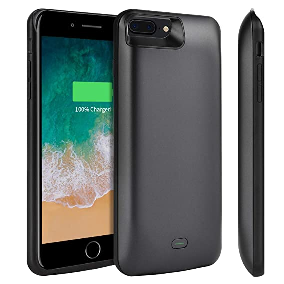 free shipping 3fa0f cb804 Battery Case for iPhone 8 Plus/7 Plus, Tsmile 7300mAH Protective Charger  Case Rechargeable Extended Battery Pack Portable Backup Charging Case Cover  ...