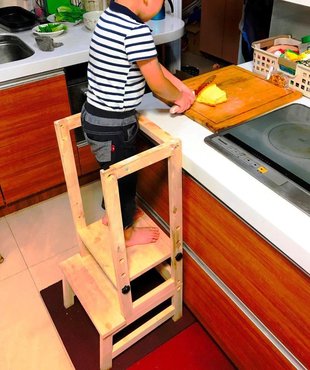 con tavoletta da Disegno chuck /& blair Sgabello da Cucina a Torre per Bambini Altezza Regolabile