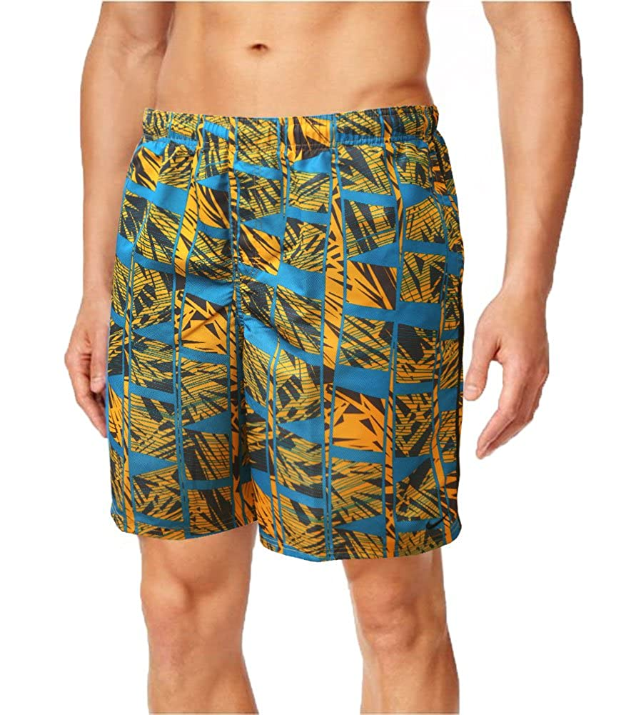f209870dce2a8 Amazon.com: Nike Mens Volley 9 Inch Atlas AOP Swim Trunks (Small, Multi  Color): Clothing
