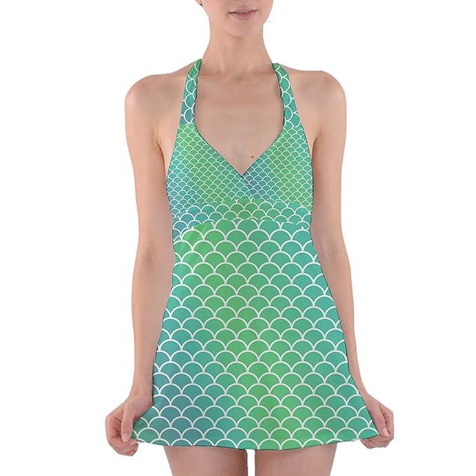 Amazon.com: Queen of cases cola de sirena halter vestido de ...