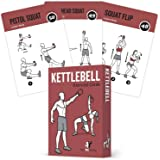 Exercise Cards Kettlebell - Home Gym Workouts HIIT Strength Training Build Muscle Total Body Fitness Guide Training…
