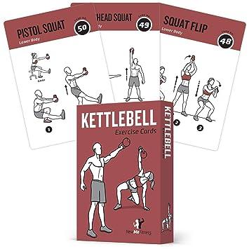 """NewMe Fitness Tarjetas de ejercicios para los entrenamientos de gimnasio en su casa 3.5""""X5"""""""