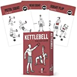 Exercise Cards Kettlebell - Home Gym Workouts HIIT Strength Training Build Muscle Total Body Fitness Guide Training Routines