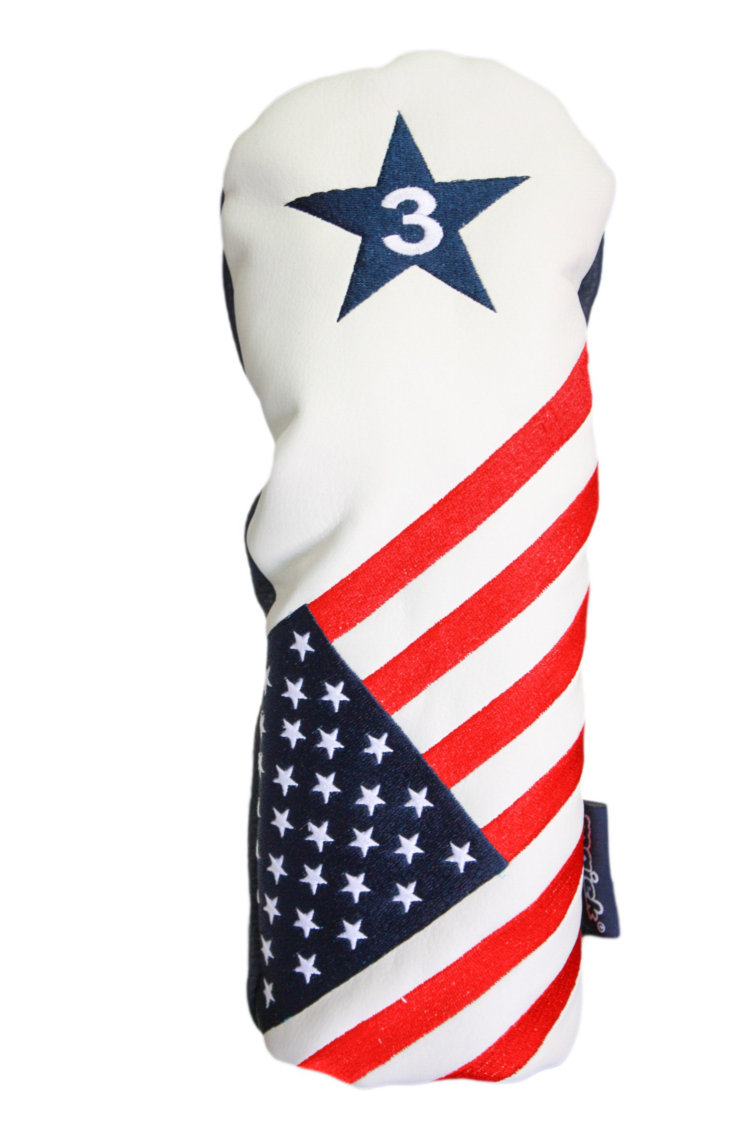 USA 1 3 X Golf Headcover Patriot Vintage Retro Patriotic Driver Fairway Wood Head Cover by Majek USA Vintage Golf Driver Headcover (Image #4)