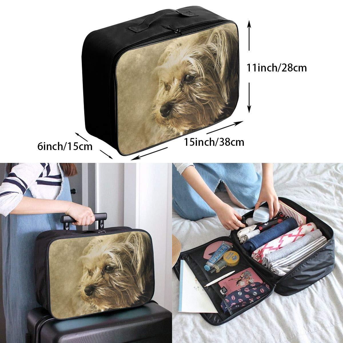 Animal Creative Texture Art Travel Lightweight Waterproof Foldable Storage Carry Luggage Large Capacity Portable Luggage Bag Duffel Bag