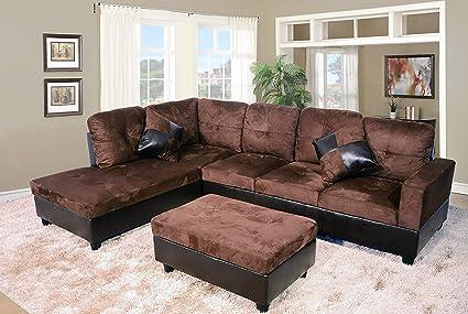 Cool Amazon Com 3 Piece Left Right Hand Facing Living Room Short Links Chair Design For Home Short Linksinfo