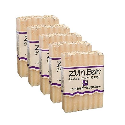 Indigo Wild: Zum Bar Goat's Milk Soap, Oatmeal & Lavender 3 oz (5 pack)