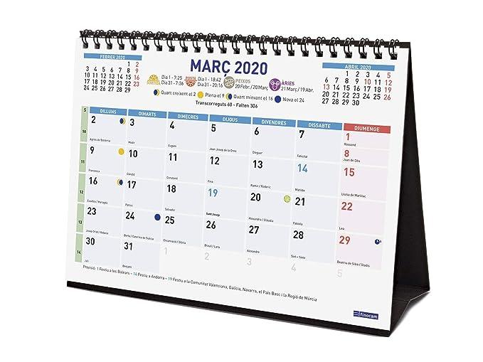 Amazon.com : Finocam - Desktop Calendar 2020 Colour Writing ...