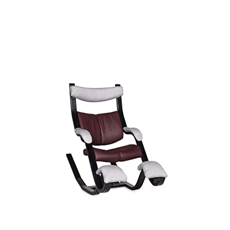 Stokke Poltrone Relax.Stokke Gravity Balans Designer Leather Fabric Armchair Red