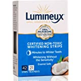 Lumineux Oral Essentials Teeth Whitening Strips - 21 Treatments - Dentist Formulated and Certified Non Toxic - Sensitivity Fr