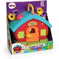 Brinquedo Educativo Casinha da Vovo Encaixe Formas, Elka, Sortido, Tamanho Único