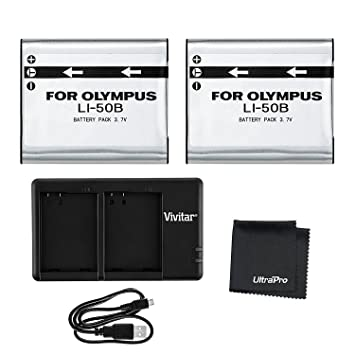 Amazon.com: LI-50B Cargador doble de paquetes: Camera & Photo