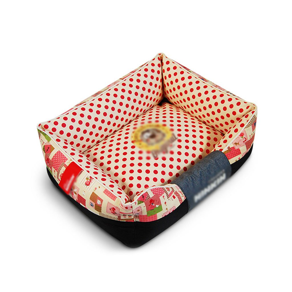 A 3545cm A 3545cm RKY Pet Bed Dog Mat Pet Mat Medium Small Dog Pet Sleeping Pad Cat Dog Nest Washable Four Seasons Pet Supplies Soft sleeping pad (color   A, Size   35  45cm)