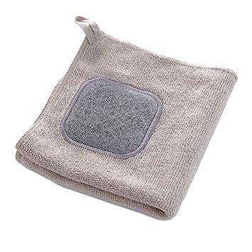 shakeball absorbente para colgar toalla de microfibra paños para la cocina lavado paño de limpieza lavar toallas de plato de plato: Amazon.es: Hogar