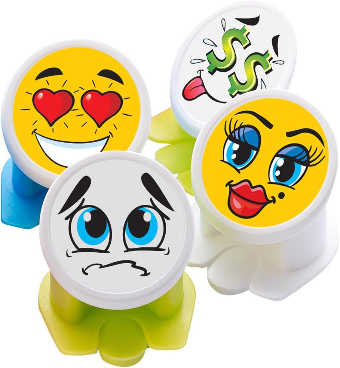 Canper es un nuevo tapón de latas reutilizable para el consumo higiénico de bebidas enlatadas – Pajita multiusos para latas de refresco (Emoji 4 Pack)