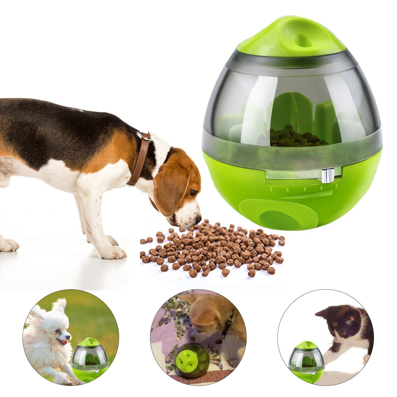 Yokunat Feeder Boule de friandises pour distributeur de nourriture Jouets interactifs pour chiens et chats Cadeau idéal pour animaux domestiques (Vert)