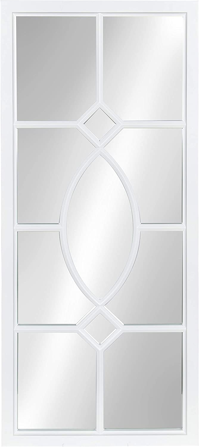 Kate and Laurel Cassat Window Wall Accent Mirror, White