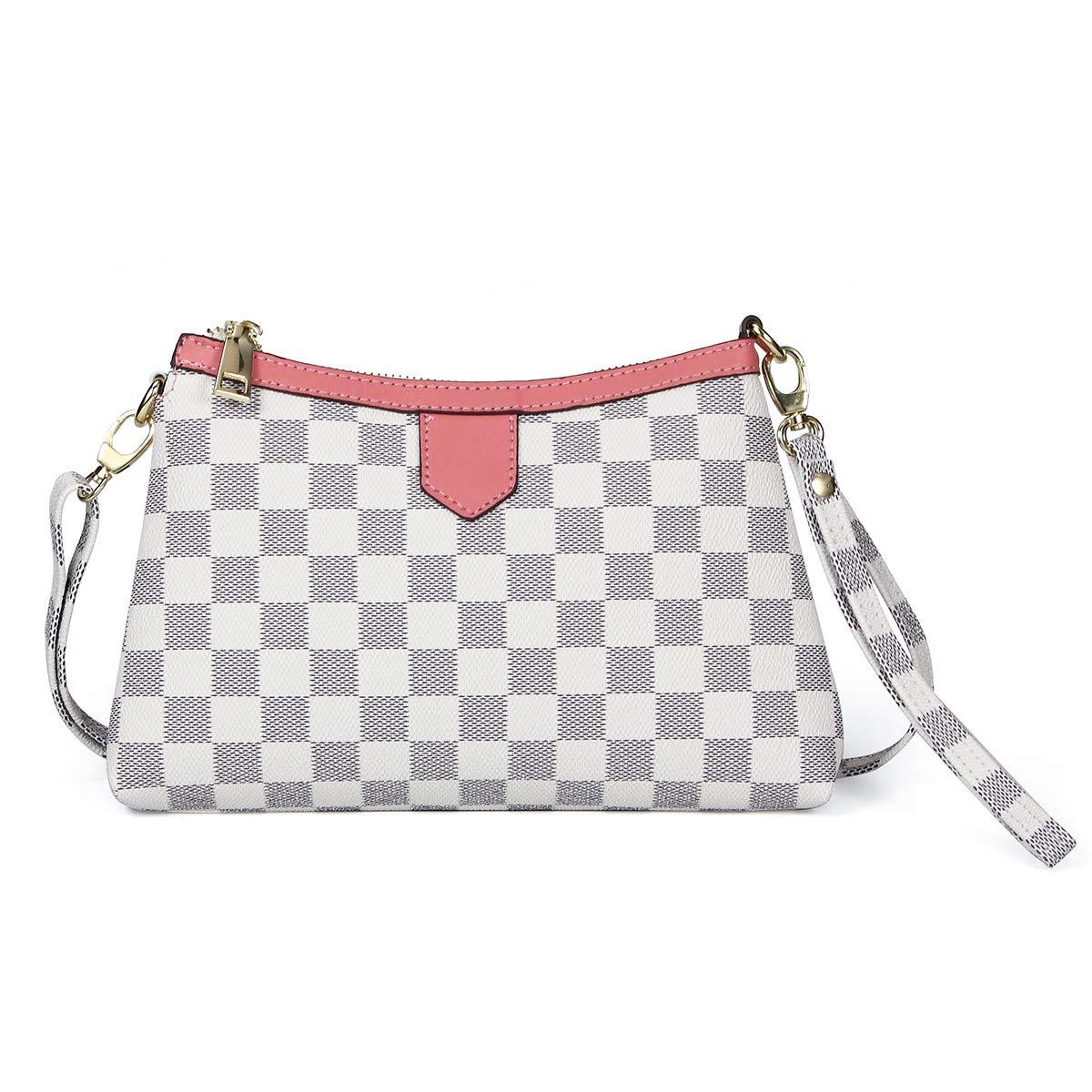 Small Checkered Crossbody...
