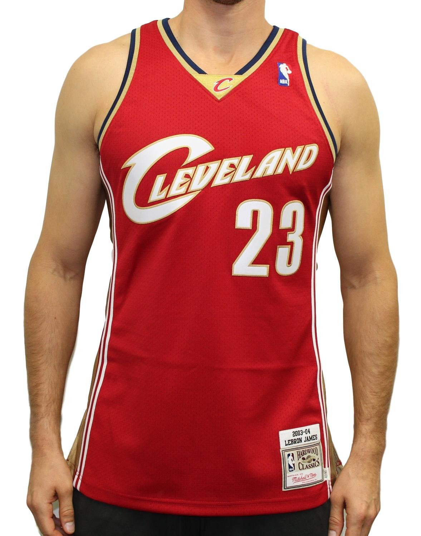 on sale 8f32b 47edf Amazon.com : Mitchell & Ness LeBron James 2003-04 Authentic ...