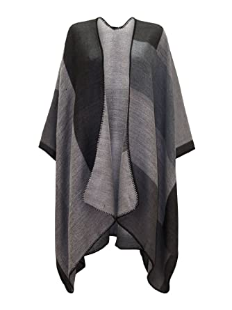Chaos Theory Outlet - Blouson - Col en V - Femme Multi Grey  Amazon ... f4adef8ad01